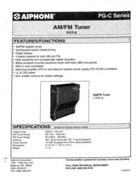 Aiphone PG-C PGT-8 Leaflet