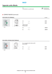 Baco BACO N/A 33S10 SPST-NO Screw terminals BA33S10 Data Sheet