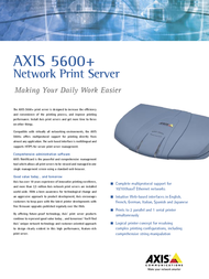 Axis 5600+ 0129-102 Leaflet