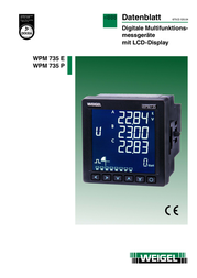 Weigel Mains-analysis device, Mains analyser 6790007 Data Sheet