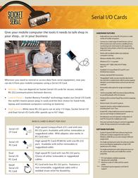 Socket Mobile Serial I/O PC Card SL0700-004 Leaflet