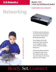 US Robotics 5-Port 10/100 Ethernet Switch USR847905 Leaflet