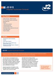 J2 Retail Systems J2 615 615SSD Leaflet