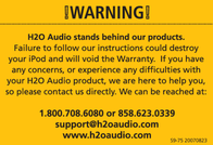 H2O Audio SIS iV6-75 User Manual
