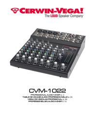 Cerwin-Vega CVM-1022 User Manual