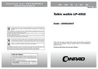 Wintec LP-4502 N/A PMR Radio 1516 Benutzerhandbuch