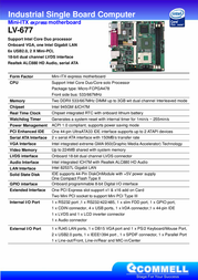 Commell Intel Core Duo / Core 2 Duo Mini-ITXexpress Motherboard LV-677EDC Leaflet