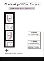 Adams Condensing Oil-Fired Furnace User Manual