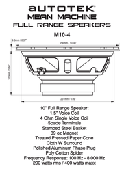 Autotek M10-4 Leaflet