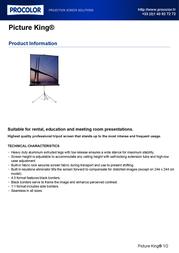 Procolor Picture King 092109 Leaflet