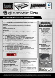 Hercules DJ Console Rmx 4780474 User Manual