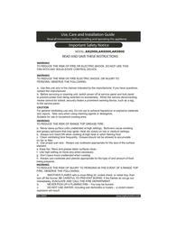 Zephyr WHIRLWIND AK2000 User Manual