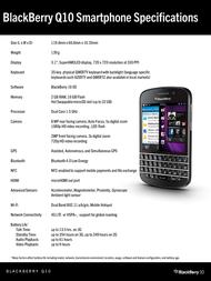 Deutsche Telekom Blackberry Q10 99920491 Leaflet