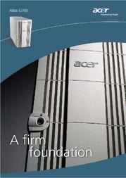 Acer TT.G70E0.028 Manuale Utente