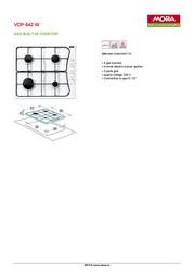 Mora VDP 642 W 390103 Leaflet