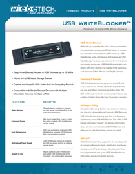 Wiebetech USB WriteBlocker 31300-0192-0000 Leaflet