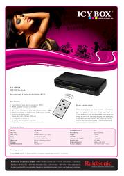 Raidsonic IB-HD141 Leaflet