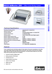 Ibico ibiMaster 200 IB271025 Leaflet