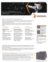 Astaro Security Gateway 320 STU3200AP User Manual