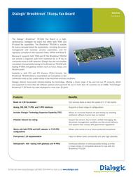 Brooktrout TR1034 901-002-06 Data Sheet