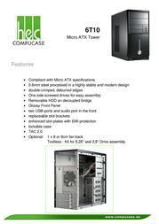 Compucase 6T10 6T10BS-TB35UT Leaflet