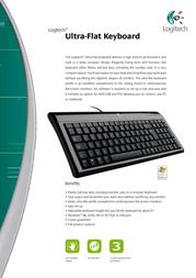 Labtec Ultra-Flat Keyboard, German 967653-0102 Leaflet