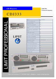 Limit CDJ333 Professional CD Player CDJ333 Leaflet