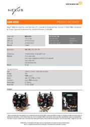 Nexus AXM-8200   Socket AM2/940/939/754 CPU Cooler AXM-8200 Leaflet