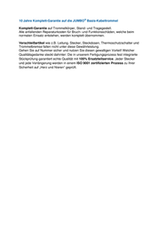 Jumbo Kabel EU Plug Plastic empty drum Blue - 266.600 Data Sheet