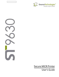 Source Technologies SECURE MICR PRINTER ST9630 User Manual