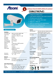 Asoni CAM627M-POE Leaflet