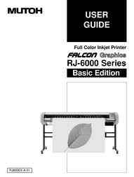 Falcon Full Color Inkjet Printer RJ-6000 Series RJ600EX-A-01 User Manual