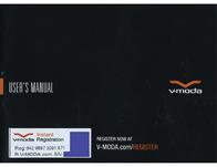 V-MODA Crossfade Wireless Owner's Manual