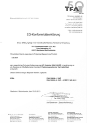 Thomar THERMO-HYGROMETER INCL CLOCK 30-5031 Data Sheet