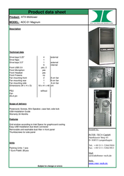 Inter-Tech AOC-01 88881002 Product Datasheet