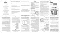 Oster Slow Cooker 7660 Leaflet