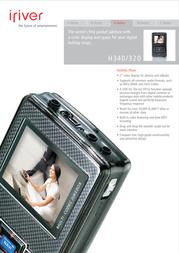 iRiver Cradle for iRiver H340 2CRD002----BLAA Leaflet