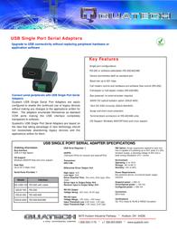 Quatech SS-USB-100 Leaflet