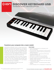 ION Audio Discover Keyboard 8127150814201 Leaflet