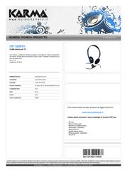 Karma Italiana HP 1096TV Leaflet
