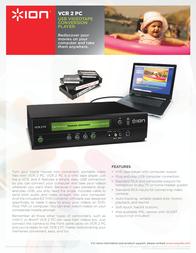 ION Audio VCR 2 PC VCR2PC Leaflet