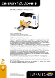 Terratec Cinergy 1200 DVB-S 10452 Leaflet