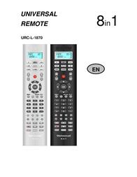 Universal Remote Control URC-L-1870 User Manual