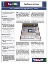 Tascam DM-3200 User Manual