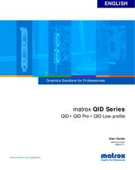 Matrox QID-P256PROF User Manual