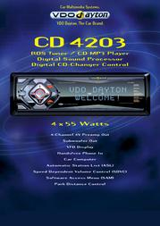 Dayton CD4203  RDS Tuner / CD MP3 Player CD4203 Leaflet