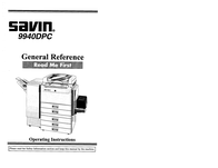 Savin 9940DPC User Manual
