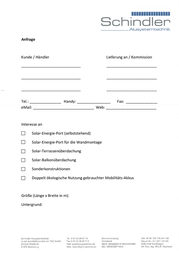 Schindler Alusystemtechnik SOLAR-ENERGIE-PORT WANDMONTAGE SEP1710 SEP1710 Data Sheet
