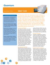 Quantum SDLT 320 Tape Drive, Bare, LVD, Beige, Bulk TR-S23AA-BR Leaflet