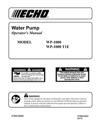 Echo WP-1000 T1E User Manual